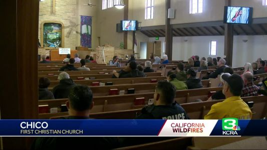 Pain, loss and support: Dozens come together for Camp Fire vigil
