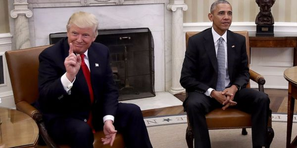 Trump is dragging Obama for 'failures' in dealing with Russia's election meddling and Putin