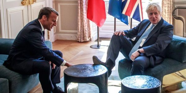 Boris Johnson called 'rude' after putting his foot up on a table in the Élysée Palace during his meeting with President Macron