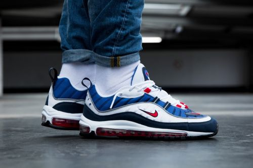 "Nike Air Max 98 ""Gundam"" and ""Tour Yellow"" Colorways On-Feet"