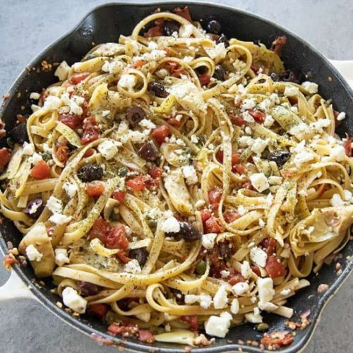 Easy Greek Fettuccine
