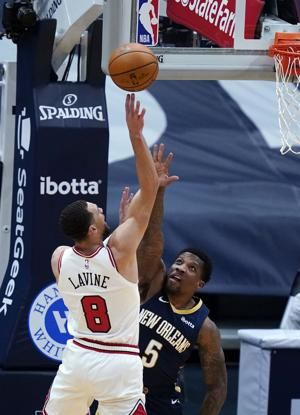 LaVine's 36 points lift Bulls past Pelicans 128-124