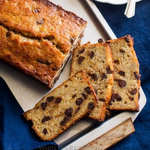Orange-spiced chocolate chip banana bread