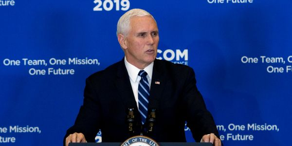 Pence repeated the claim that ISIS is 'defeated' just hours after US troops died in a devastating ISIS-claimed attack in Syria