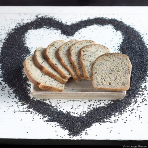 Black sesame sourdough bread