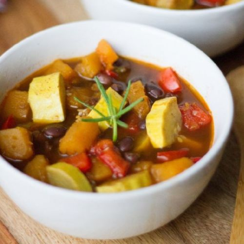 Black Bean Butternut Squash Soup