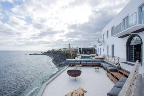 This Azores Hotel is Pure Whitewashed Romance Dramatic ocean