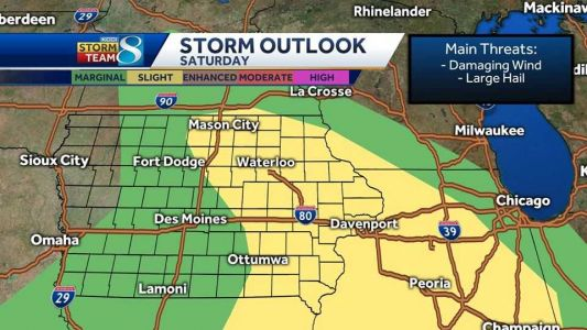 Severe storm threat exists Saturday afternoon