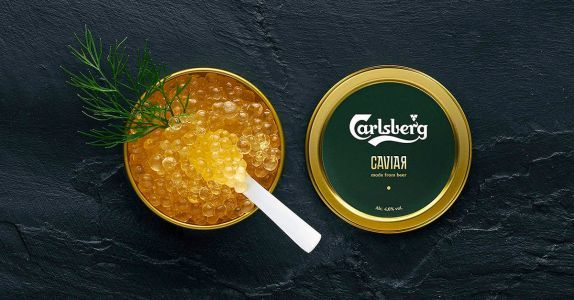 Carlsberg Invented Caviar Made of Beer for the World Cup