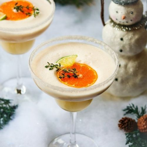 Frosty citrus margaritas