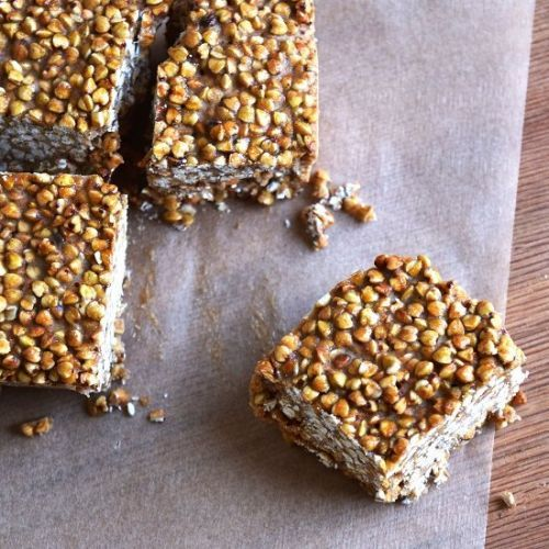 Raw Maple Tahini Bars