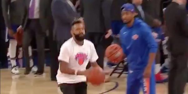 The Knicks were roasted by fans when a fan hit a half-court shot was rewarded with $1,000 in scratch-off lottery tickets