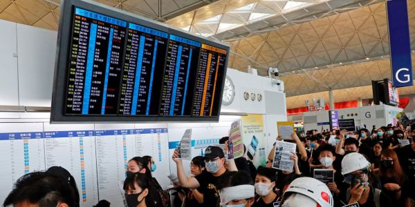 Hong Kong airport resumes flights after protests paralyzed operations