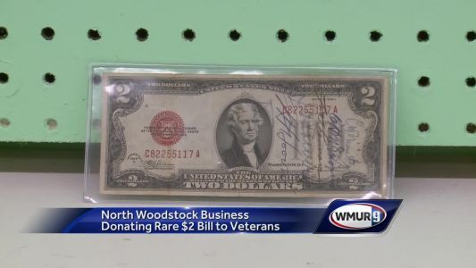 Business owner plans to donate rare $2 bill to veterans
