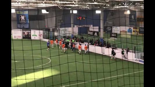 Soccer players attack referee after game in Brookfield