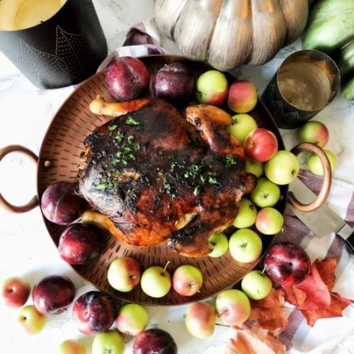 Cider roasted chicken