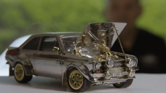 I Am So Here for This Tiny Ford Escort Model Made of $90,000 in Silver, Gold and Diamonds