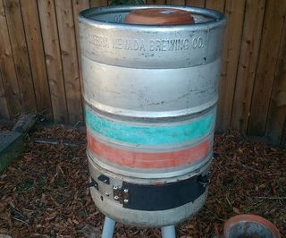 Beer Keg no-weld electric smoker