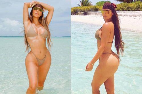 Kim Kardashian celebrates turning 40 with sexy bikini photos