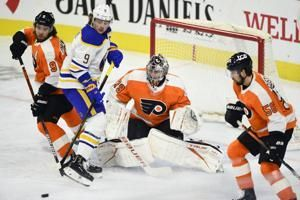 Reinhart, Lazar score twice in Buffalo's 6-1 win over Flyers