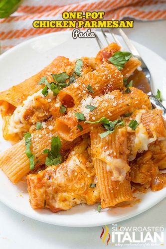 One-Pot Chicken Parmesan Pasta