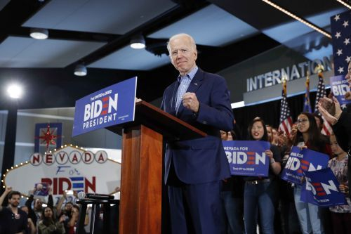 Biden claims victory despite distant second finish to Sanders