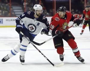 Scheifele scores 3 times as Jets beat Senators 5-1