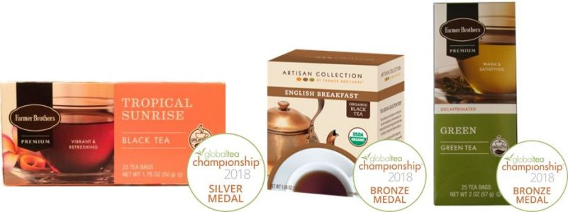 Farmer Brothers Hot Teas Win Three Medals At Global Tea Championship