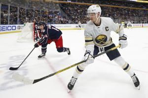 Olofsson scores 2 in Sabres' 4-3 OT win over Blue Jackets