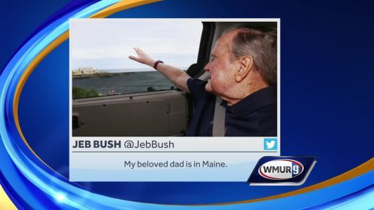 Former President George H.W. Bush back in Maine
