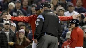 Sale, Cora make early exits as Red Sox lose ALCS opener