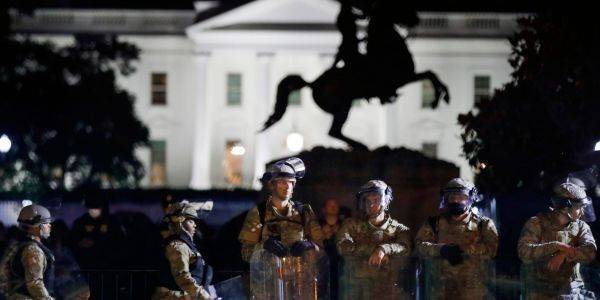 National Guard troops and federal agents kept close watch on 5th night of George Floyd protests in Washington DC