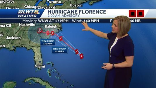 Tracking Florence for the Carolinas and more clouds here