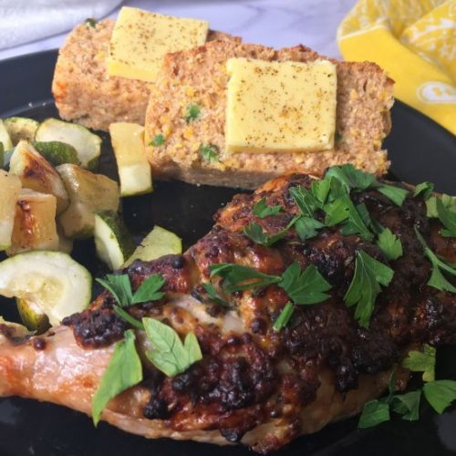 Air Fryer Chicken Legs with Mustard