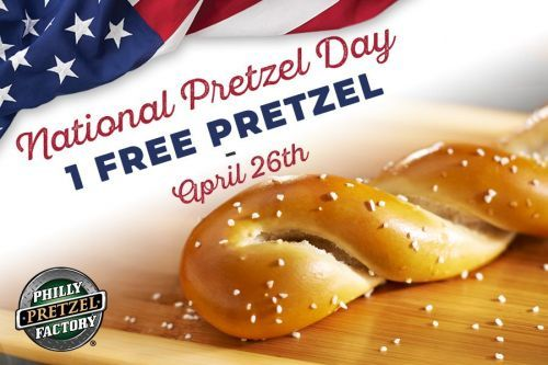 Philly Pretzel Factory Announces Pretzels for Everyone on National Pretzel Day, April 26, 2018