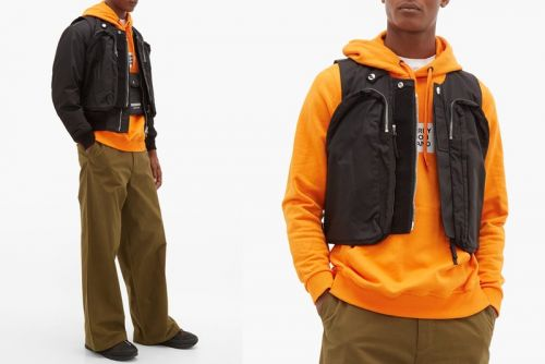 Burberry Takes Utilitarian Approach With Bomber Jacket & Utility Vest Hybrid