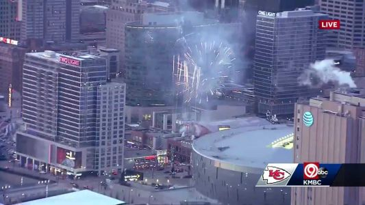Entertainment districts set off fireworks to celebrate Chiefs' win