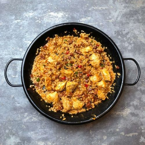 Nates Chicken and Chorizo Paella