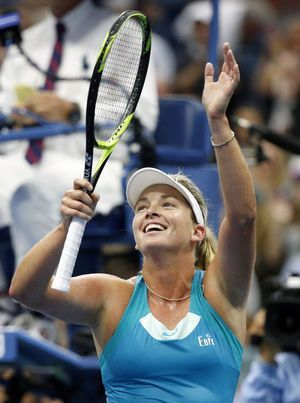 The Latest: Keys easily takes 1st set in 2nd US Open semi