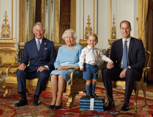 The Queen apparently favors Prince George and leaves presents at the foot of his bed when he visits the Buckingham Palace