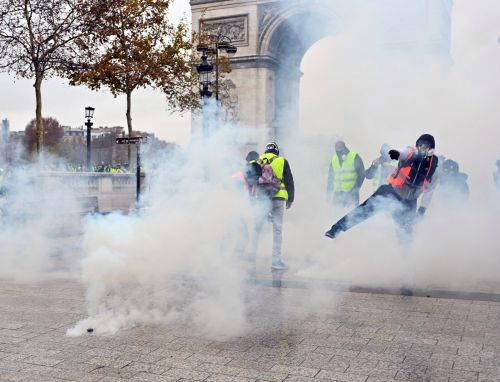 Paris protests spread amid discontent with President Macron's economic policies