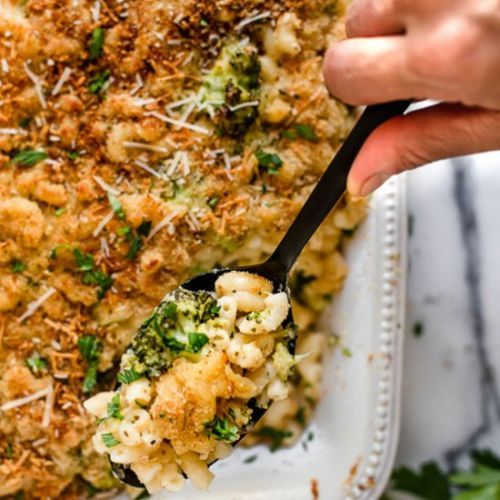 Baked Broccoli Macaroni And Cheese