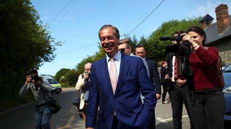 'Looks like a big win': Nigel Farage's Brexit party sailing to victory in EU elections - exit polls