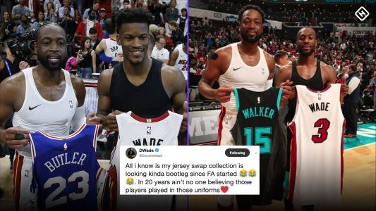 Did Dwyane Wade bring balance to the NBA with all of his jersey swaps?