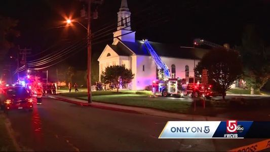 Firefighter called to battle flames in church where he was set to wed