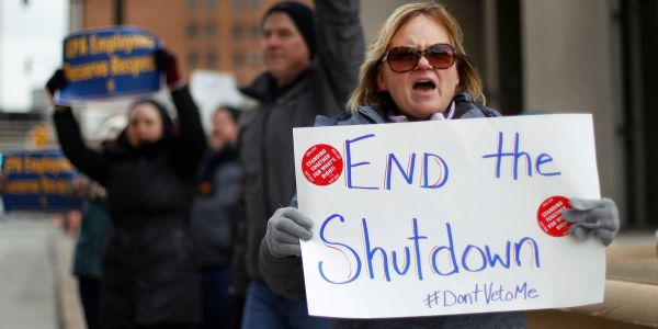 The number of federal employees making unemployment claims during the government shutdown is soaring