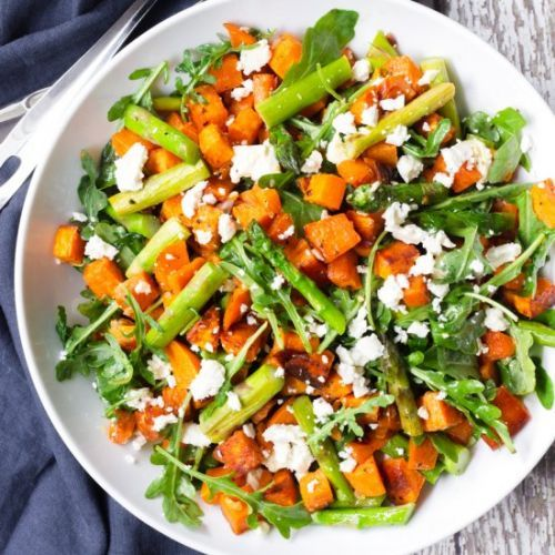 Asparagus and Sweet Potato Salad