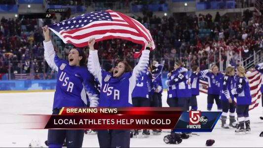 GOLD! BC, Boston celebrate US Women's Hockey win
