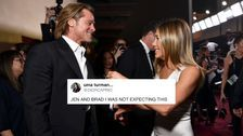 Brad Pitt And Jennifer Aniston Reunited At SAG Awards And Twitter Needed A Moment