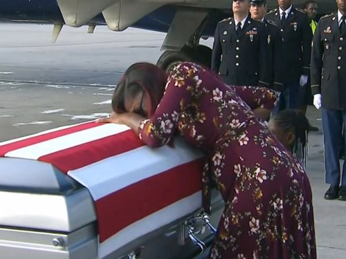Congresswoman calls Trump 'a sick man' after he accused her of lying about his conversation with a dead soldier's widow